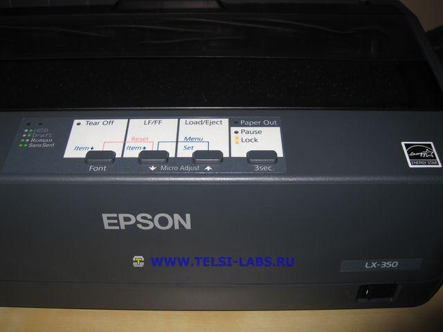 Принтер Epson LX-350 обозначения кнопок и светодиодов