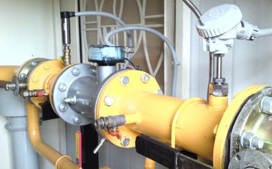 датчики давления и температуры, счетчик газа