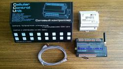 GSM контроллер CCU825 в корпусе с креплением на DIN-рейку