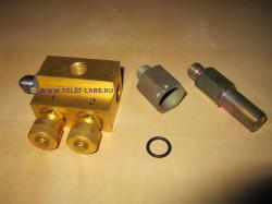 Устройство отбора давления из тела счетчика (вентильный блок)